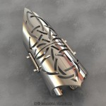 Celtic Full Finger Articulated Ring - Render