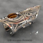 Celtic Spider Full Finger Articulated Ring - Render
